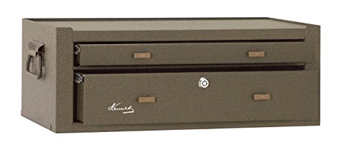 Kennedy Manufacturing MC22B 2-Drawer Machinist's Steel Tool Storage Chest Base with Friction Slides, 21'', Brown Wrinkle by Kennedy Manufacturing