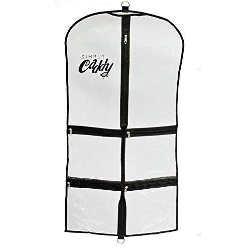 [Costume Garment Bag With Pockets, Black Trim] (Dance Costumes For Pageants)