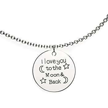 2 I Love You To The Moon And Back Pendants Charms Antiqued Silver Quote Charms Crafts