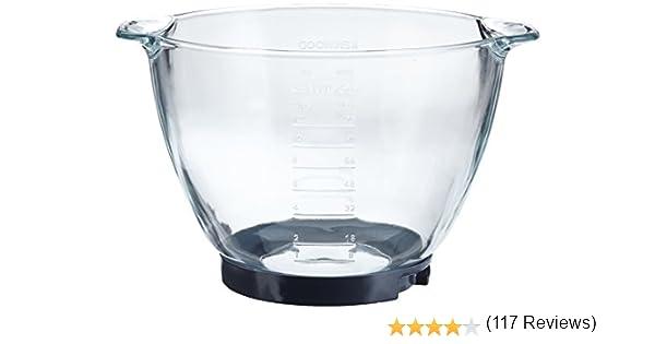 Kenwood AT 550 Cuenco para mezclar de cristal, 4.6 L, Vidrio ...