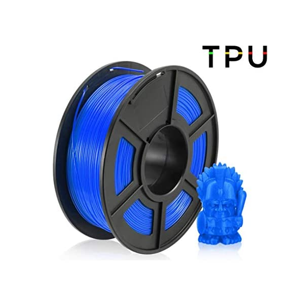 Tpu 3d printing filament, used for 3d printer and 3d printing pen, 1.75mm 3d printing filament, multiple colors (color : blue)