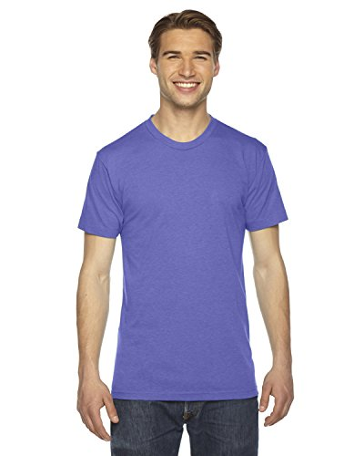Tri Orchid (American Apparel TR401W Unisex Triblend Short-Sleeve Track T-Shirt Tri Orchid S)