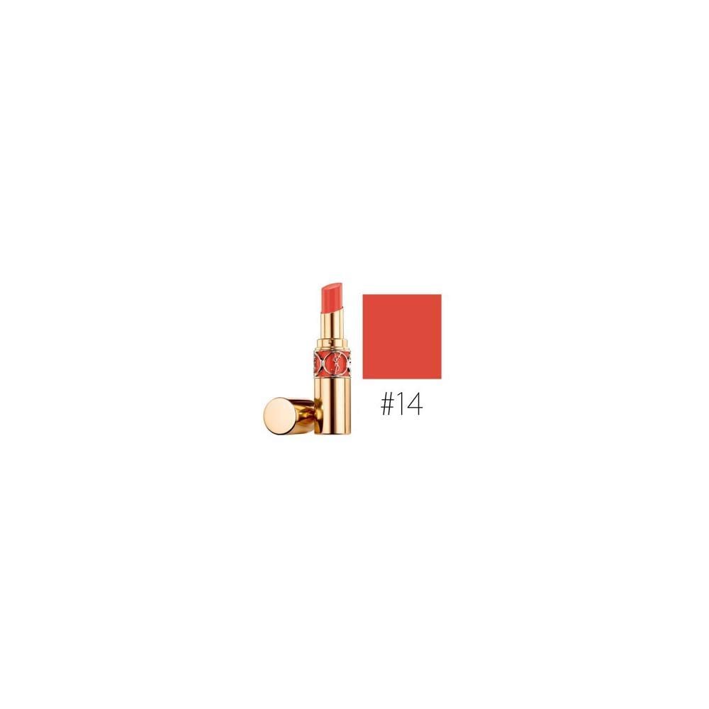 Yves Saint Laurent Rouge Volupte Shine Lipstick, 14 Corail In Touch, 0.15 Ounce