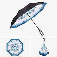 Nuoyi Paraguas invertido Paraguas Paraguas Reversible a Prueba de ...