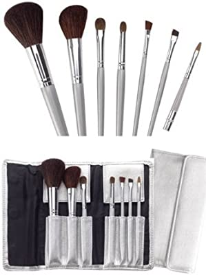 Juego de pinceles Lily Maquillaje Cala 7 piezas, estuche negro 70815 + pulidor de uñas Aviva: Amazon.es: Belleza