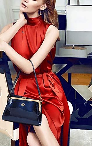 Borse Borsette Donna da Messenger a mano Giuggiola Borse Bianco Borse Rossa spalla a DEERWORD polso 5gqBnB