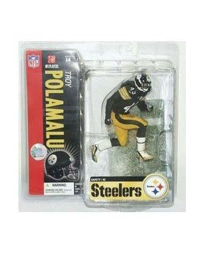 McFarlane Toys NFL Sports Picks Series 14 Action Figure Troy Polamalu (Pittsburgh Steelers) Snow on Field Variant ()