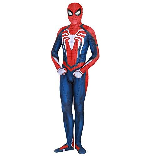 Spiderman ps4 Costume Advanced Suit Unisex Lycra Spandex Bodysuit Halloween Cosplay Costumes Adult Kids 3D -