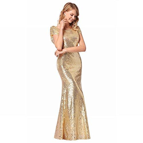 Alta Di Qualità XXL Abito da Oro Paillettes Donna con DHG CYXRgqxwC