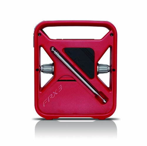 Eton FRX3 Hand Turbine AM / FM NOAA Weather Alert Radio with Smartphone Charger - Red, NFRX3WXR by Eton (Image #1)