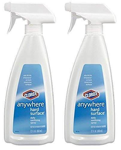 Clorox Anywhere Hard Surface Spray 22 Fl Oz (650 Ml) Pack of 2