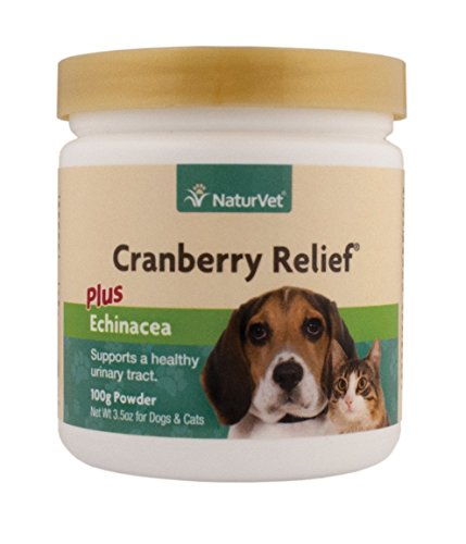 Naturvet Cranberry Relief, 100 Gram Powder, Dog and Cat Health Supplements for Urinary Tract (Urinary Supplement Health)