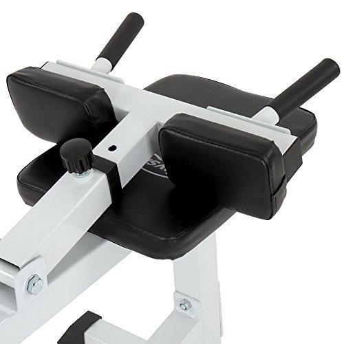 Physionics - Banco de musculación / Máquina profesional para tonificar gemelos (aprox. 109/59,5/91 cm) - color negro/blanco: Amazon.es: Deportes y aire ...