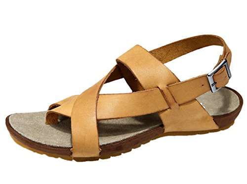 DQQ Mens Leather Cross Strap Sandal B 14A6wG