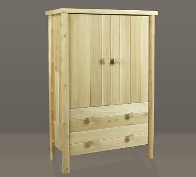 Rustic Natural Cedar Furniture 0200037 Bedroom Armoire, Natural