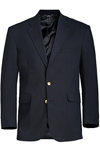 Hopsack Navy Blazer - Ed Garments Men's Fully Lined Hopsack Single Breasted Blazer, NAVY, 54 Tall