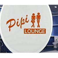 WC Deckel Aufkleber Toiletten lustiger Spruch Pipi Lounge Bad Tattoo Badezimmer Klodeckel Deko Sticker 3C100