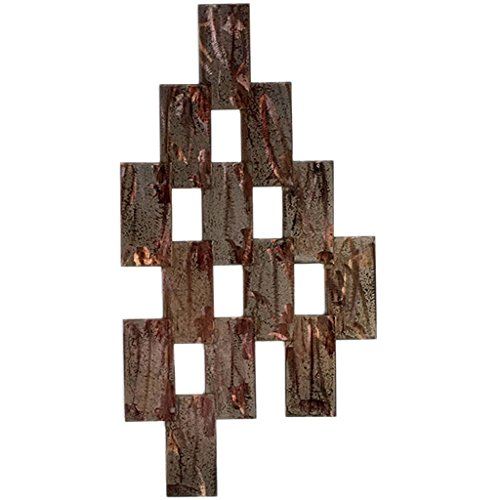 Artisan Brick Walls (set of 3) Metal Wall Art, Distressed Copper