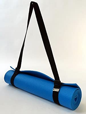 Bean Yoga Mat Sling Harness, Extra Long. Simple Looped Carry Strap (Sling Only) Recycled Polyester or Cotton Webbing by Bean Products