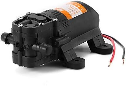 Ourleeme Hochdruckwasserpumpe 12v Membran Selbstansaugende 100w 3 5l Minute Wasserpumpe Für Autowaschbootreinigung Gartenbewässerung Küche Haushalt
