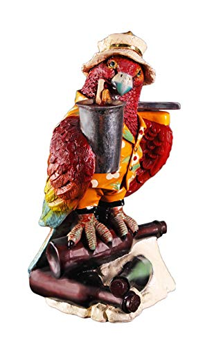 Nautical Tropical Imports Parrot Butler Large Resin Sculpture 23 Inch ()