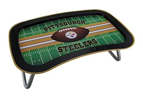 Things2Die4 NFL Pittsburgh Steelers Multi-Function Metal Lap Tray w/Folding Legs 22 Inch (Tray Serving Field)