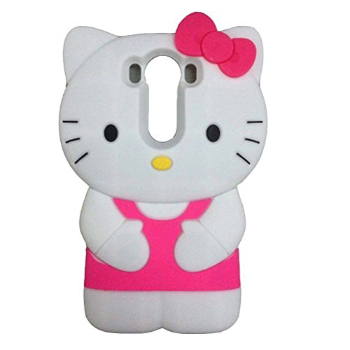 LG G Stylo Case,LG G4 Stylus Case,LG LS770 Case,LG G4 Note Case,MODEFAN 3D Cartoon Hello Kitty Rose Soft Silicon Rubber Case Cover for LG G4 Note/LG G Stylo/G4 Stylus/LS770