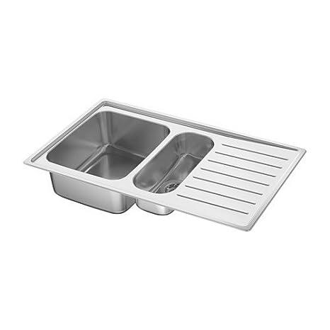 Ikea vattu dalen lavello da incasso 1,5 bacino; in acciaio inox ...