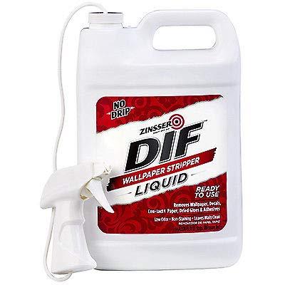 Zinsser 2481 DIF Wallpaper Stripper Liquid Ready to Use No Drip 1 Gallon with Spray Nozzle