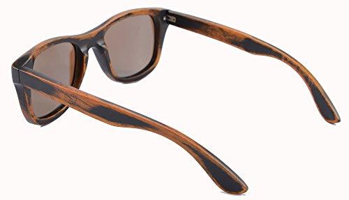 Gafas de y Gafas de de Sol de de de Z6016 de Bambú Ice los Lentes Blue Sol Madera Stain Vintage Anteojos Hombres Bamboo Gafas Espejos Polarizadas Madera SHINU de Sol Gafas OgqwZS5xv