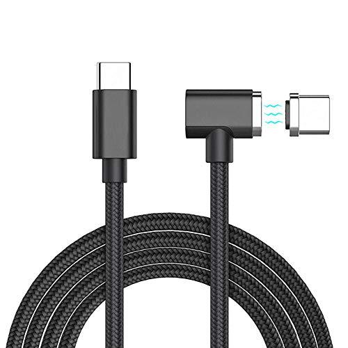 KOBWA - Cable magnético USB C para MacBook Pro, Cargador magnético, Adaptador USB C magnético de Nailon para MacBook...