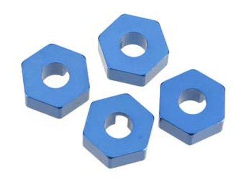 Hex Wheel Hubs, 14mm, Blue: Tmx/Emx/Revo