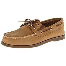 Sperry Top-Sider A/O Slip On Boat Shoe (Toddler/Little Kid),Sahara,9 M US Toddler