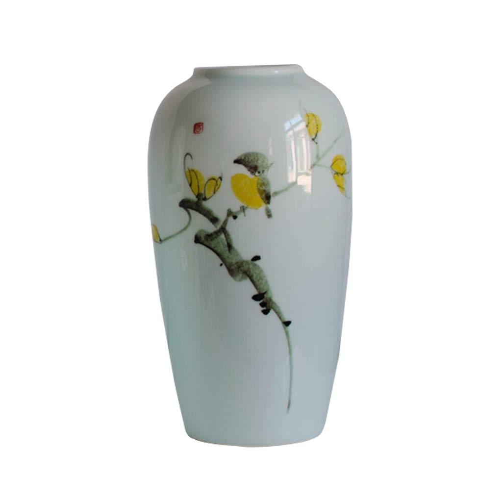 セラミックポーチ花瓶装飾リビングルーム手描き花瓶シンプルな家の装飾床花瓶 LQX (Size : B-7.8CM*29CM*11CM) B07R3BLHRM  B-7.8CM*29CM*11CM