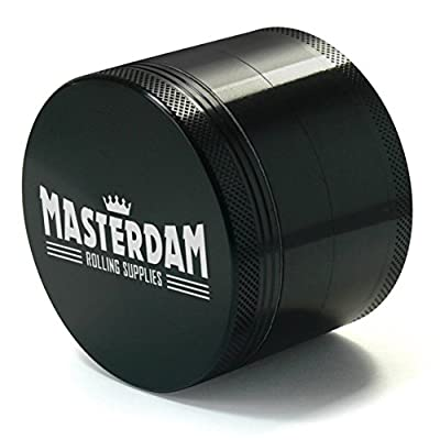 Masterdam Grinders Premium 4-Piece Herb Grinder with Pollen Catcher - Large 2.5 Inch by Masterdam Rolling Supplies