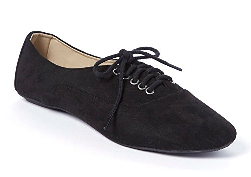Women's Jersey Lace Up Oxford Sneaker Flats (10, - Jersey Gardens New Mall