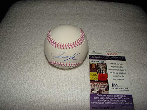 Justin Upton Hand Autographed Signed Pink Oml Baseball - JSA Certified #N59769 Detroit Tigers - Signed MLB Baseball Memorabilia