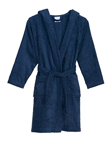 TowelSelections Boys Robe, Kids Hooded Cotton Terry Bathrobe, Made in Turkey