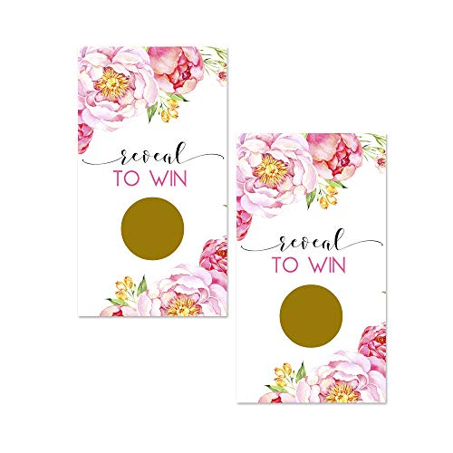 Floral Scratch Off Game Cards - 28