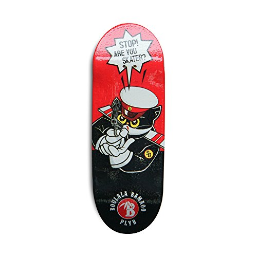 SOLDIERBAR Fan Team 9.0 Bamboo Finger Skateboards (Deck,Truck,Wheel Set for PRO) (Mr.Black) by SOLDIERBAR (Image #4)