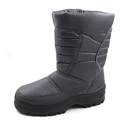 SkaDoo Mens Snow Winter Cold Weather Boots 7701 Gray Size 11]()