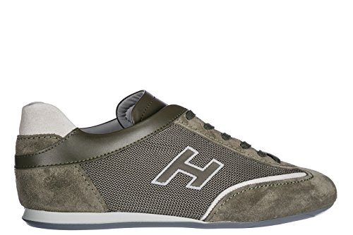 Sneakers Men's Hogan Olympia Trainers Suede Shoes Green 4TzwxdqIw