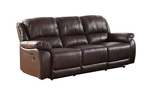 Milton Greens Stars Rena Top Grain Leather Reclining Sofa, Espresso Espresso Top Grain Leather