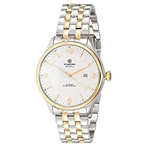 Starking Men's White Dial Stainless Steel Band Watch - BM0880GS81