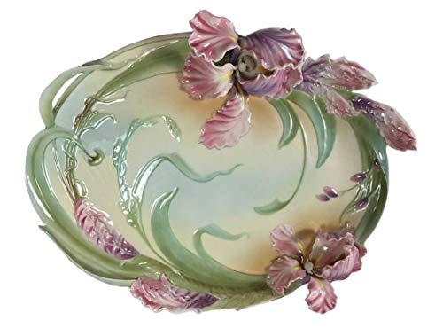 Retired Franz Windswept Beauty IRIS Design Sculptured Porcelain Three Dimensional Large - Windswept Iris