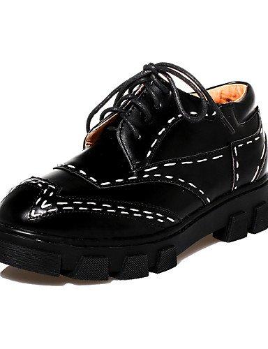 5 Creepers Semicuero Eu39 us8 Eu36 Negro Casual Mujer Oxfords De Cerrada Black Zapatos Plataforma Redonda 5 Black Uk6 Cn39 Uk3 Punta us5 Zq Cn35 Hug wqgXZXP