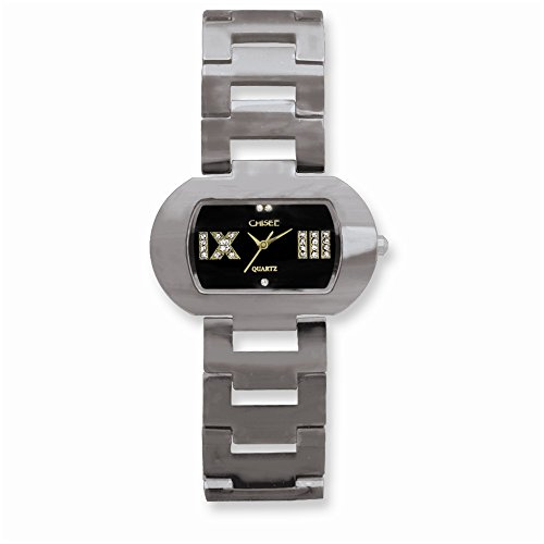 Chisel Ladies Chisel Tungsten/Black Oval Dial Watch One Size ()