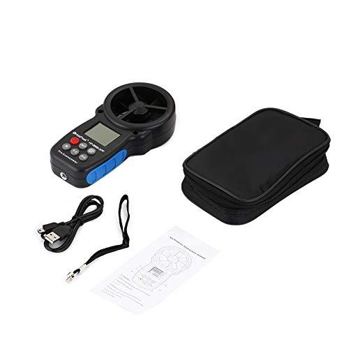 Ruirain-FR HP-866B-APP Digital Anemometer HoldPeak Handheld Wind Speed Meter for Measuring Wind Speed Temperature and Wind Chill