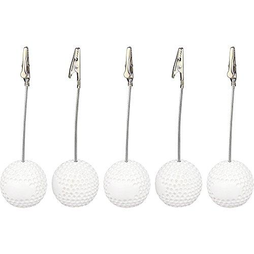 10 Pieces, Clickstore Golf Ball Alligator Wire Picture Recipe Desk Card Note Memo Photo Clip Holders Office Table Deco Paper (Golf Photo Holder)