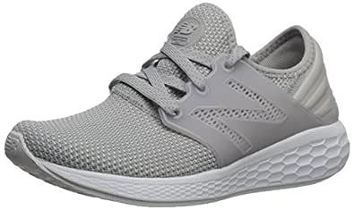 New Balance Women's Cruz v1 Fresh Foam Running Shoe, Grey/White, 5 D US